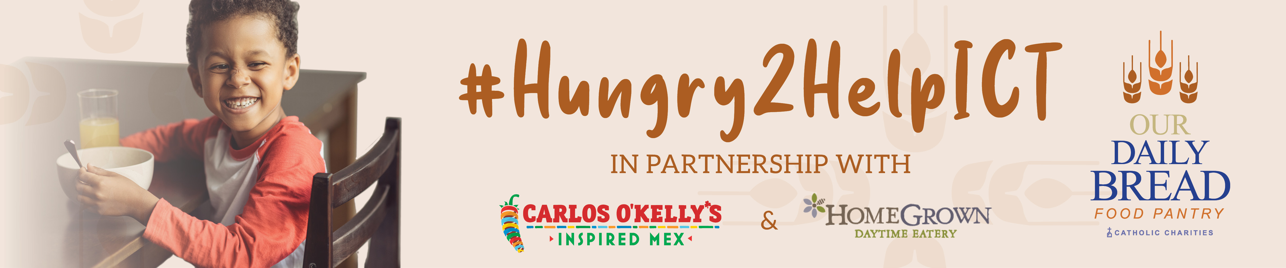 #Hungry2HelpICT in conjunction with #GivingTuesdayNow supporting Our Daily Bread Food Pantry